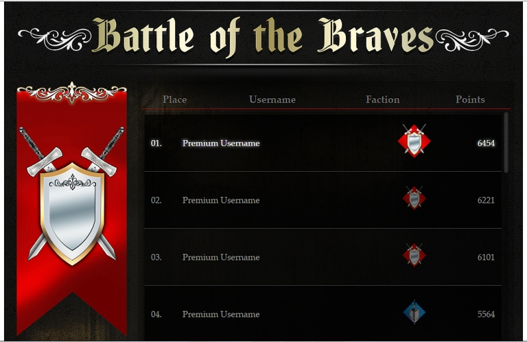 Battle of the Braves - Red Team