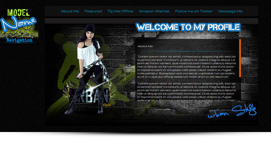 Urban Style - MyFreeCams template