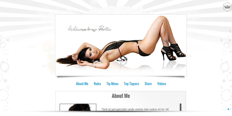 Cristal template - MyFreeCams